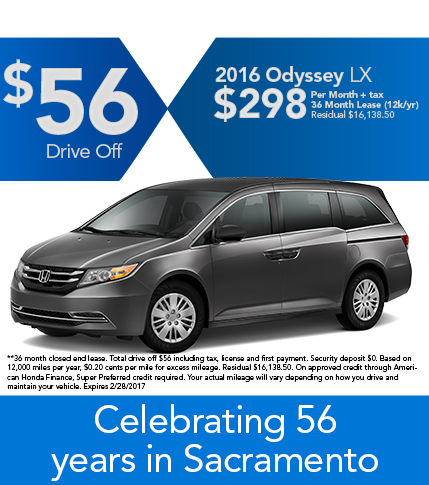 2016 Odyssey LX Lease Offer
