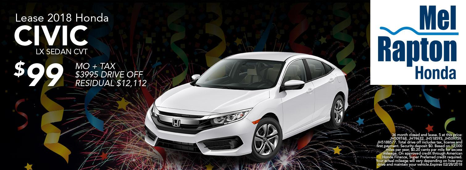 2018 Civic Lease Offer