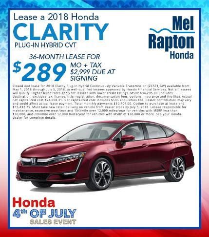 2018 Clarity July 4th Lease Offer