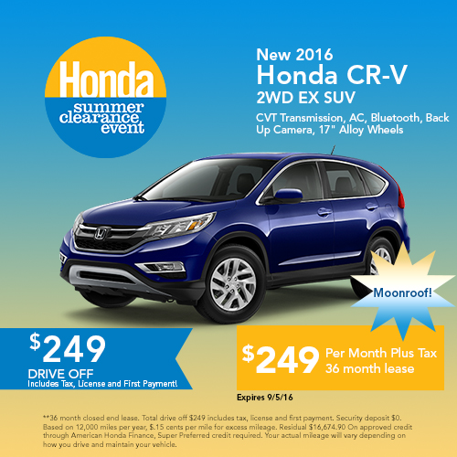 New 2016 Honda CR-V AWD SE SUV Sale
