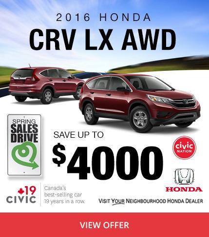 Colonial Honda - 2016 CRV LX AWD