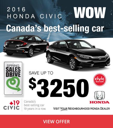 Colonial Honda - 2016 Civic - Canada's Best Selling Car
