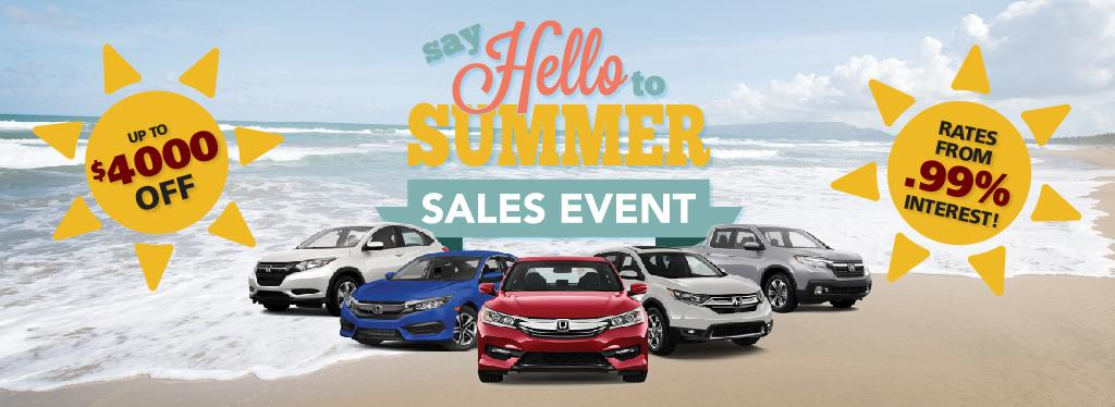 Honda Say Hello To Summer Sales Event