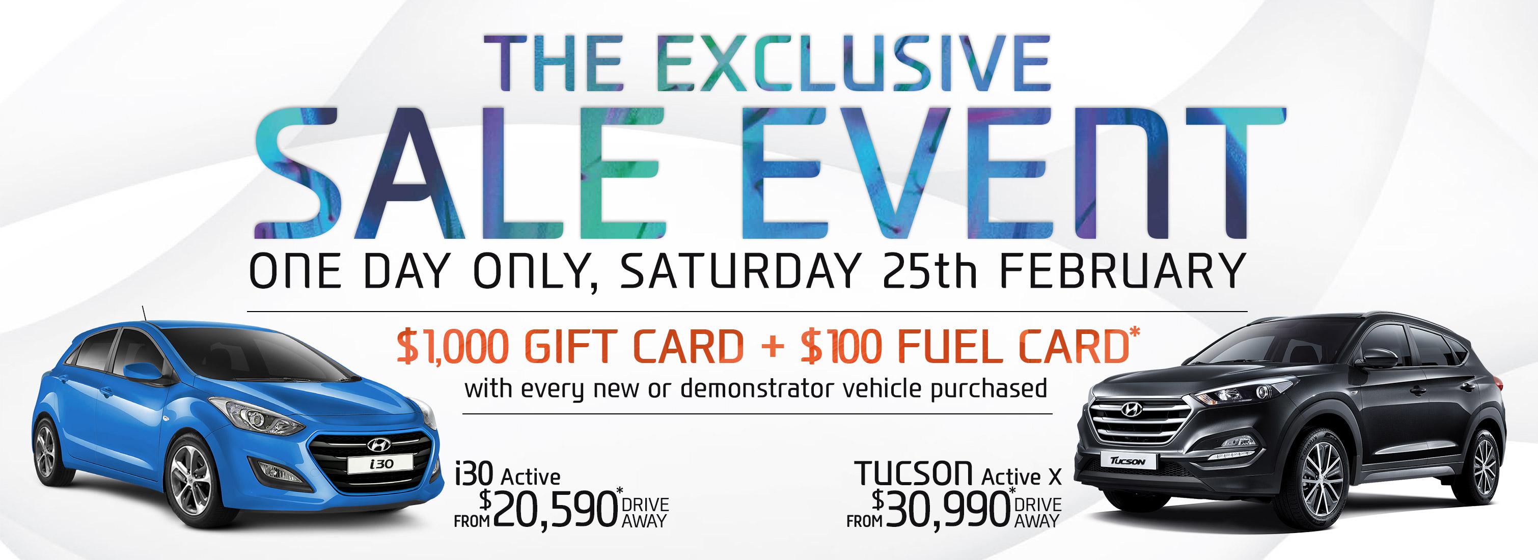 Exclusive Sale Event