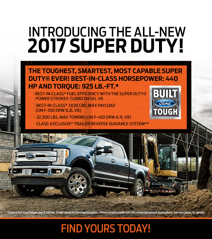 2017 Super Duty at Hallmark Ford in Surrey BC