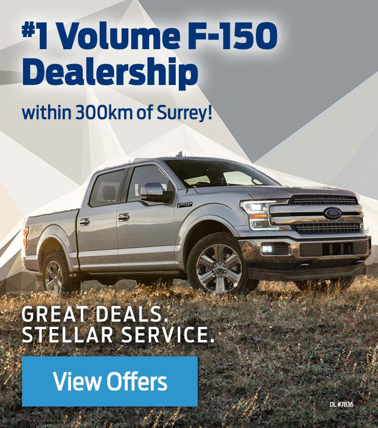#1 F-150 Dealer within 300 km of Surrey BC