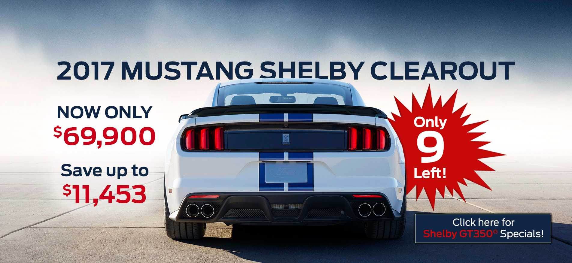 Mustang Clearout Sale