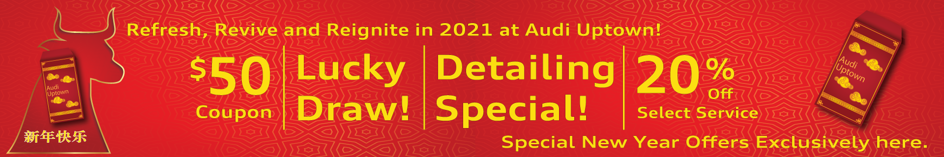 Audi Uptown Chinese New Year Special Offers
