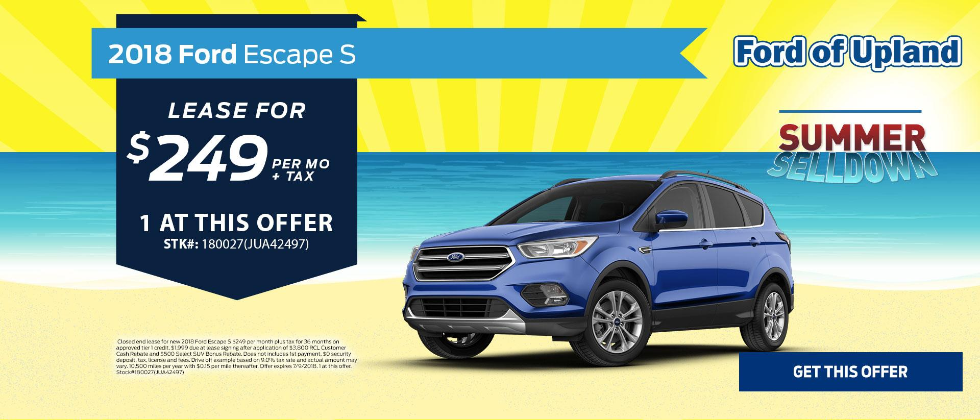 2018 Escape Lease Offer