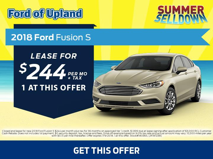 2018 Fusion Lease Offer