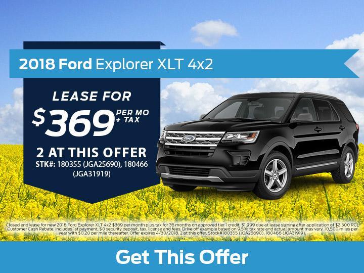2018 Ford Explorer XLT 4x2