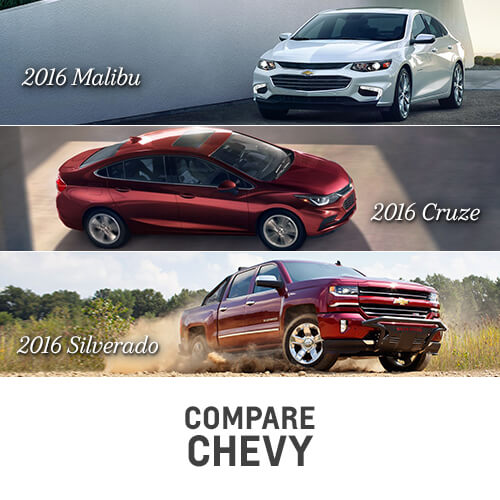 Compare Chevy to the competition; see chevy comparisons; sedans; trucks; cars; SUV