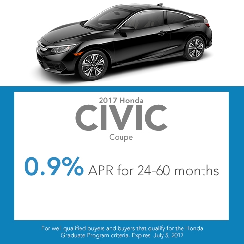 2017 Civic Coupe Finance special