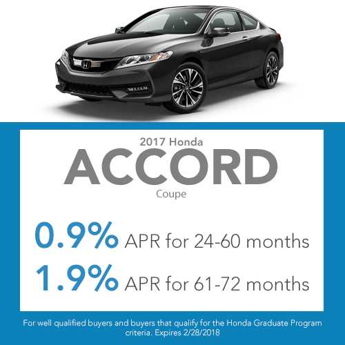 2017 Honda Accord Coupe finance special