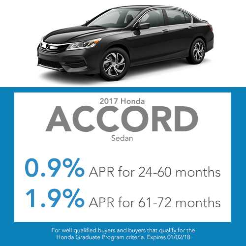 2017 Honda Accord Sedan finance special