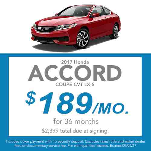 2017 Accord Coupe Lease Offer