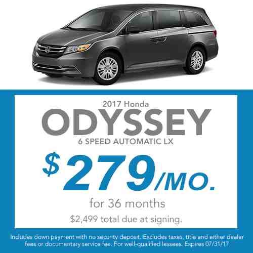 2017 Odyssey Lease Offer