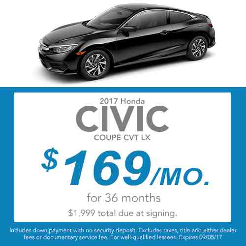 2017 Civic Coupe Lease Offer