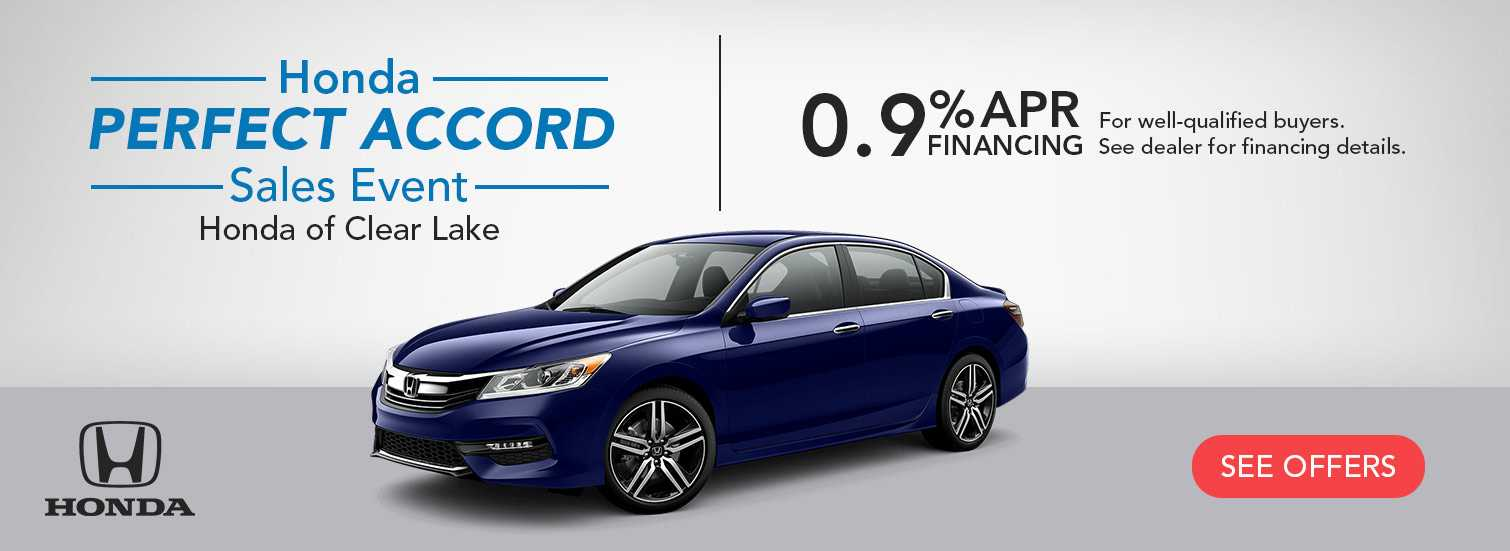 Honda Accord Sales Event