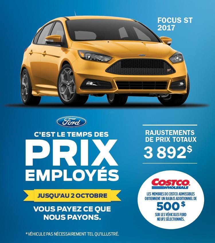 focus ford 2017 ford prix employe gatineau