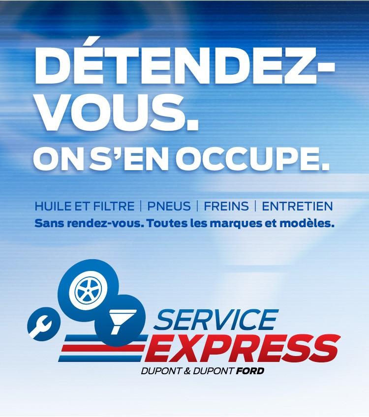 service rapide ford gatineau changement d'huile pneus