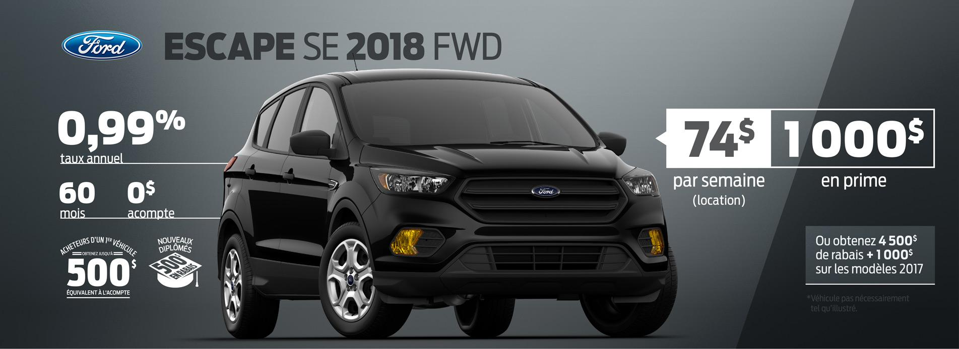 ford escape 2018 offre buckingham