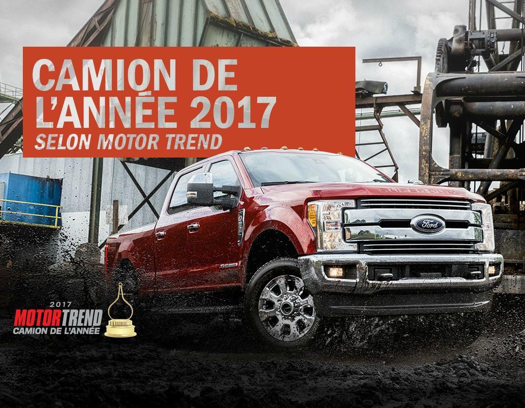 ford f-150 camion de l'année 2017 motor trend