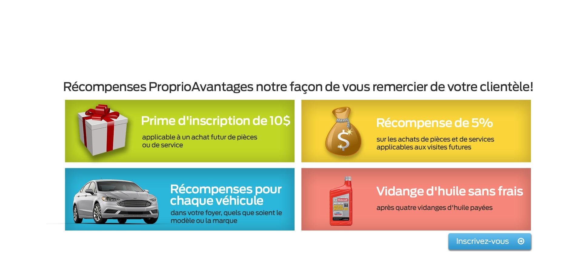 Récompenses ProprioAvantages