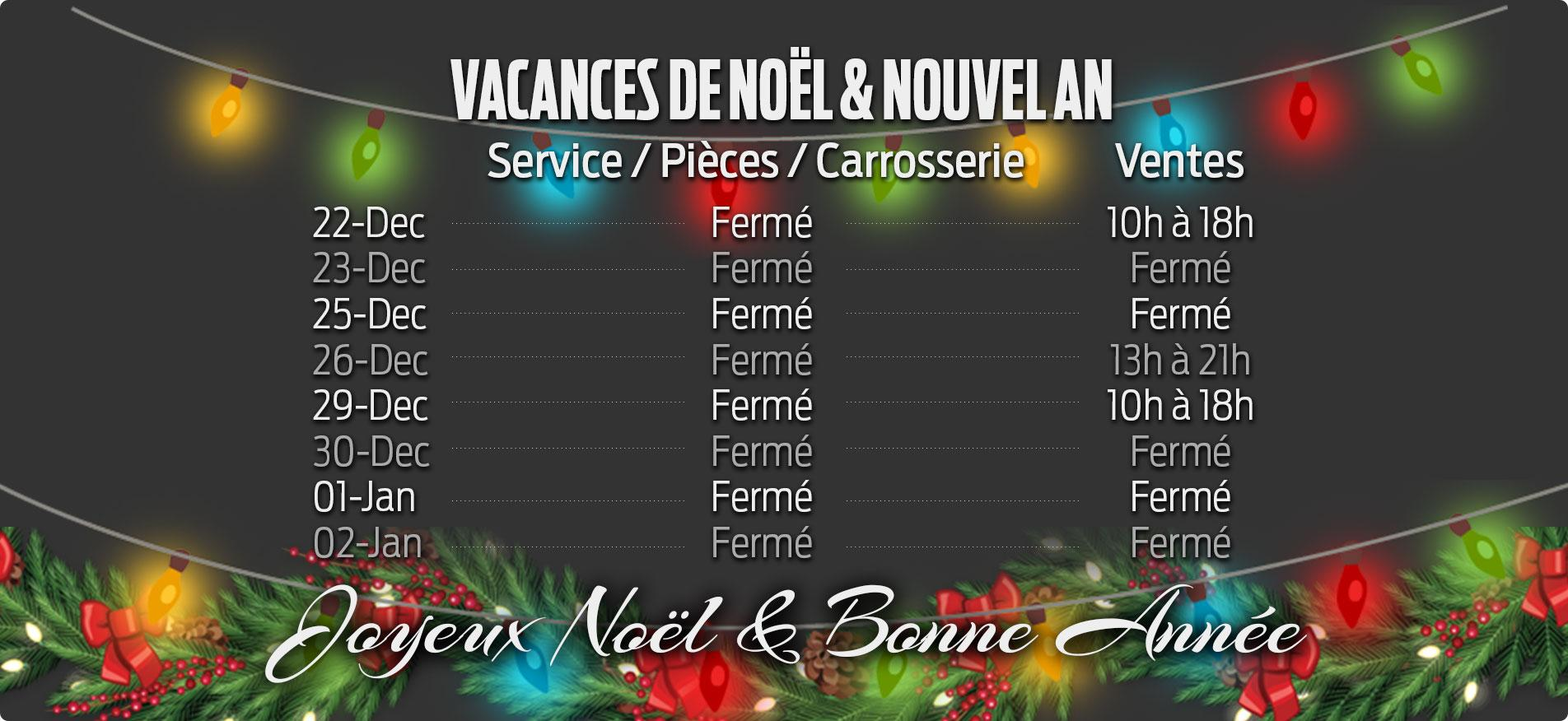Horaires vacances Ford Lincoln Gabriel Montreal
