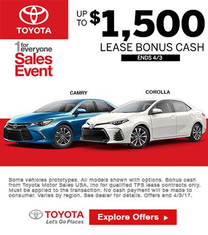Toyota Lease Bonus Cash Special