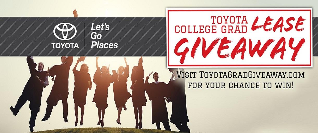 Toyota College Grad Lease Giveaway