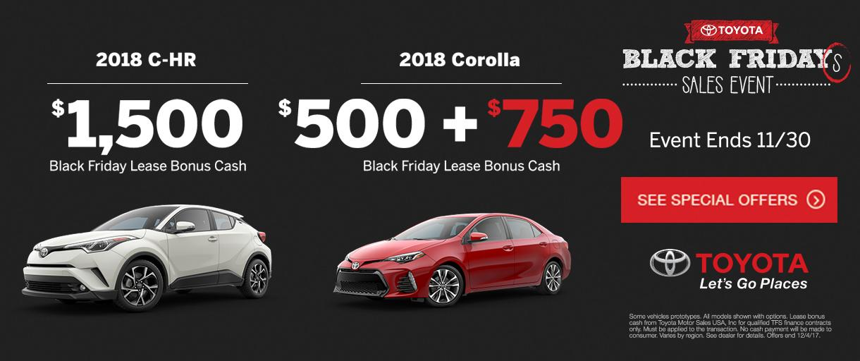 Toyota Black Friday Sales Event
