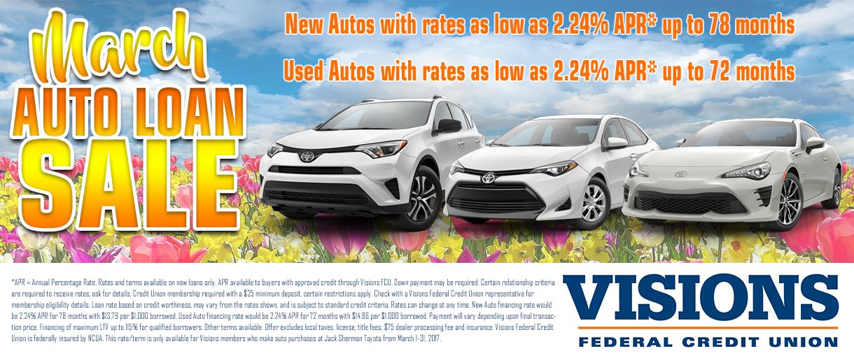 March Auto Sale