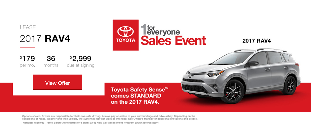1 for Everyone Sales Event - RAV4 Lease