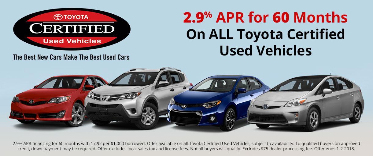 Toyota CPO Vehicle Specials