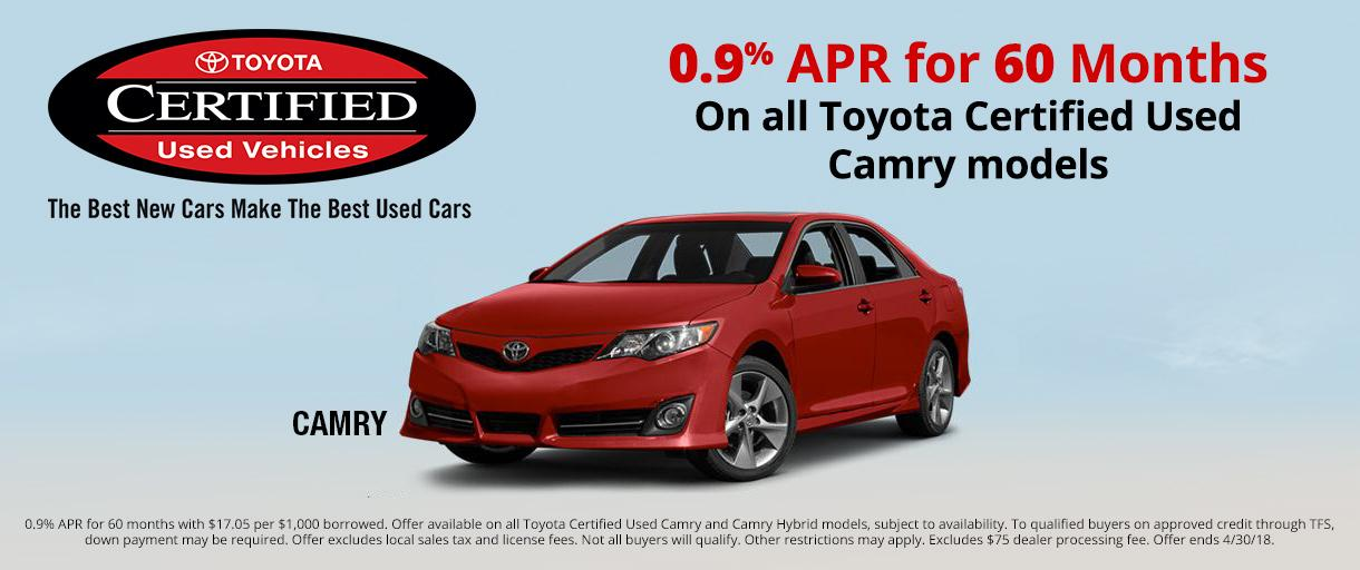 Toyota Certified Camry Special