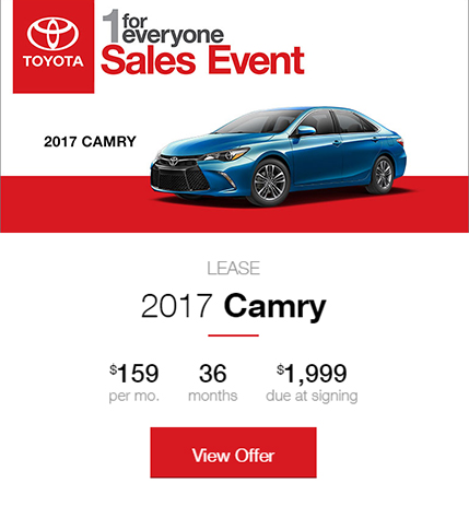 1 for Everyone Sales Event - Camry Lease