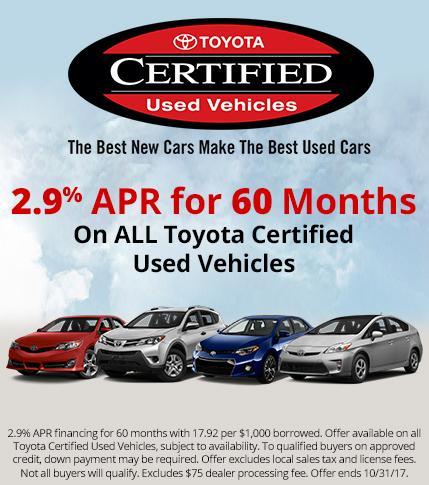 Toyota CPO Specials