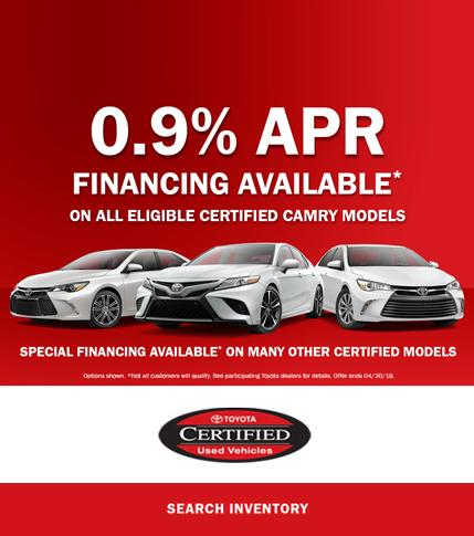 Toyota Certified Specials