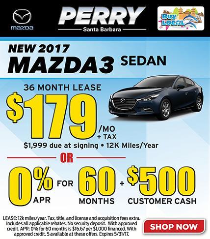 2017 Mazda3 Sedan Lease Special