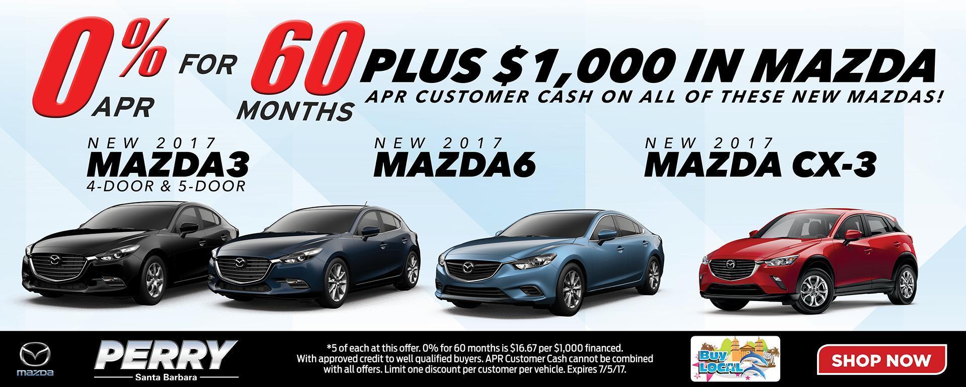 New 2017 Mazda Specials