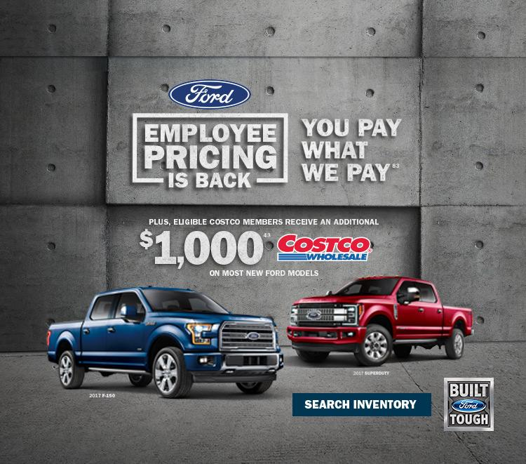 F-150 Ford Employee pricing