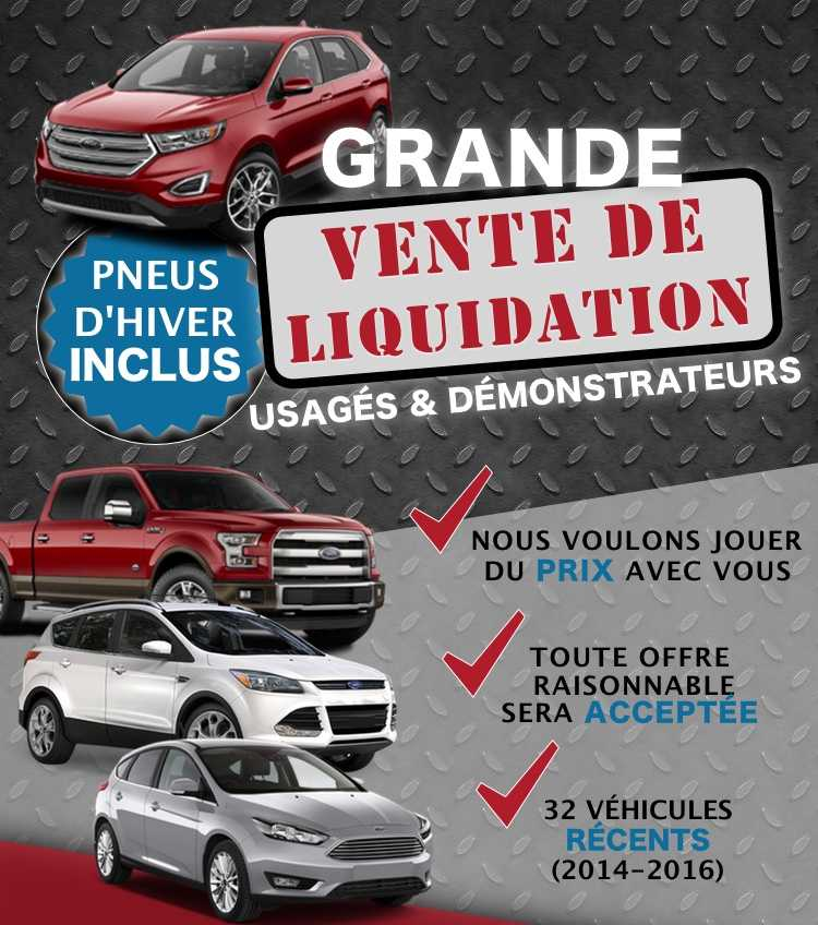demo demonstrateurs ford quebec