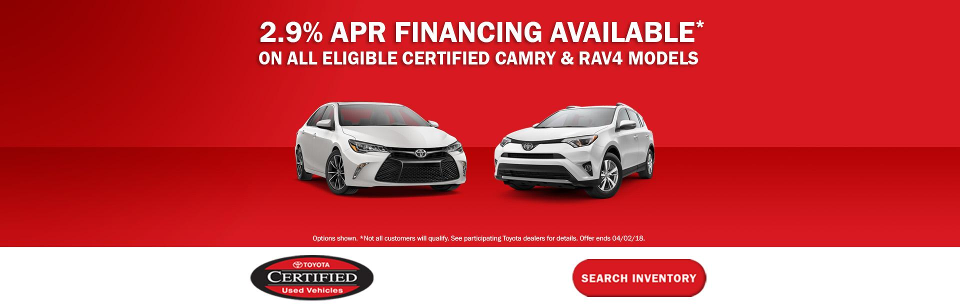 Toyota Camry and RAV4 APR Special