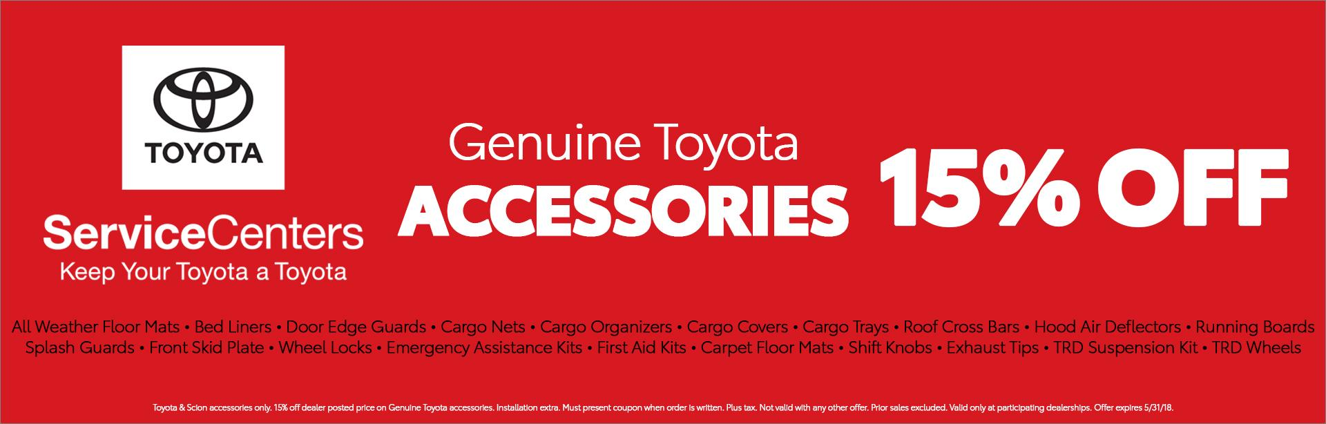 Toyota Accessories Special