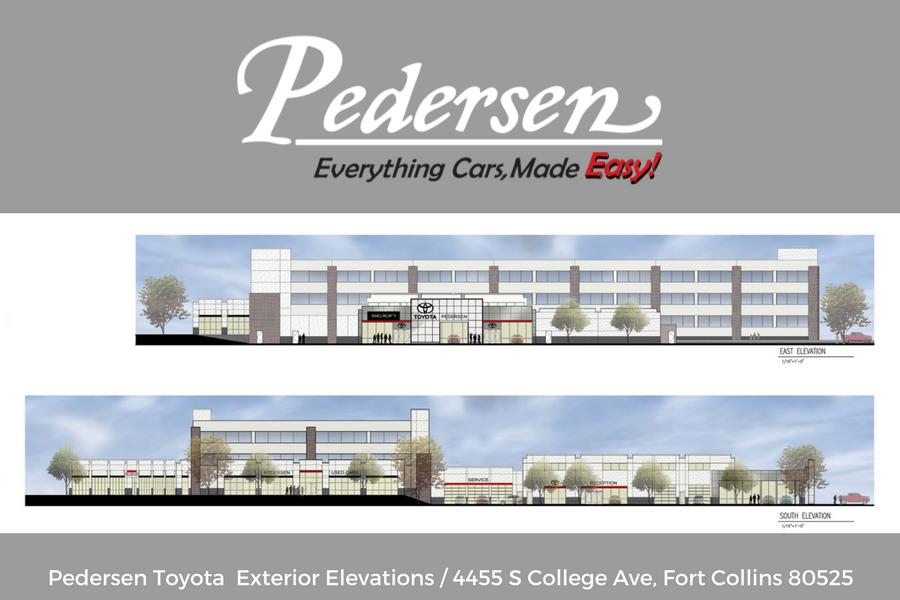 New Pedersen Toyota Facility Elevations