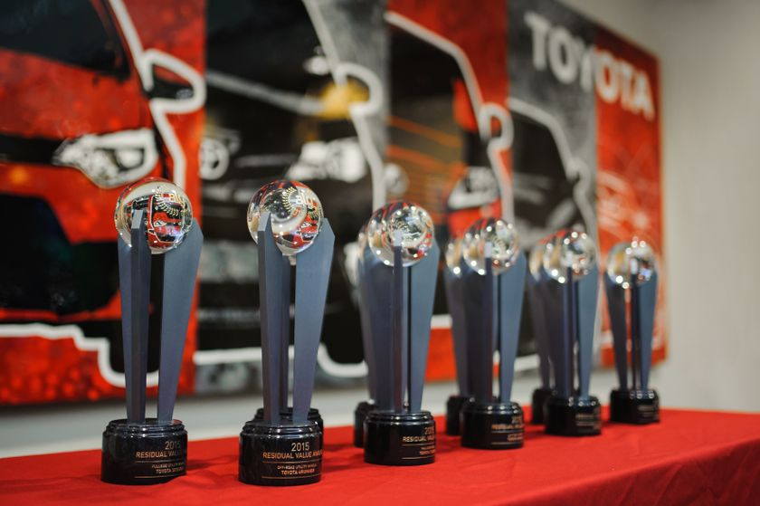 Toyota Canada also led the way in the ALG 2015 Canadian Residual Value Awards