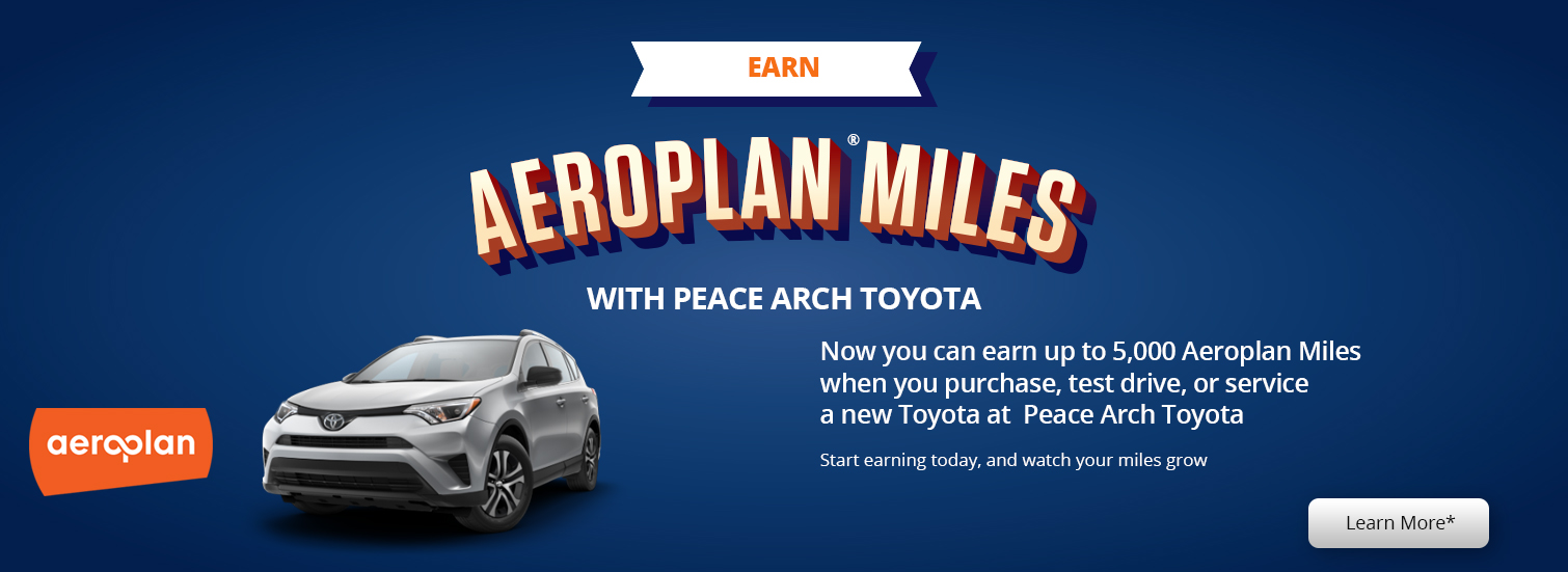 Peace Arch Toyota - Aeroplan Miles