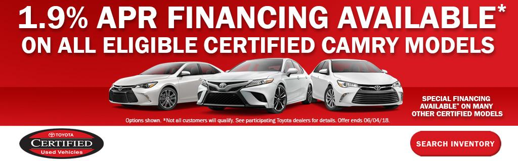 Toyota APR Specials
