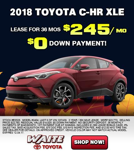 Shop 2018 Toyota C-HR XLE in Watertown NY